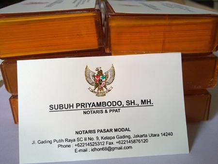 Percetakan Umum Cetak Kartu Nama Kartu Nama Notaris Cv Kedai