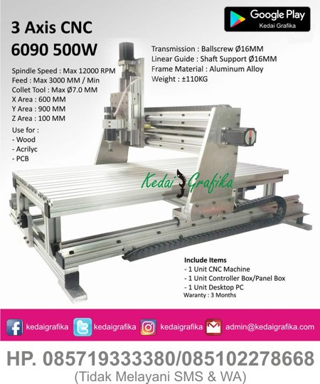 Mesin CNC 3 Axis 5090 - 500 Watt