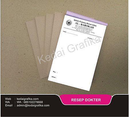 Paket Produk Atribut Bidan Resep Dokter Ncr Cv Kedai Grafika